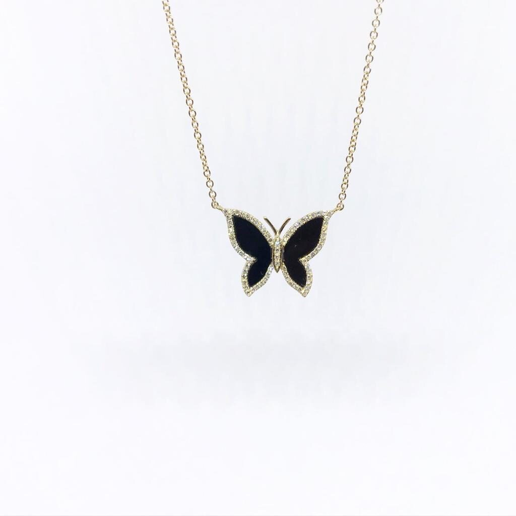 Dije Mariposa Onyx