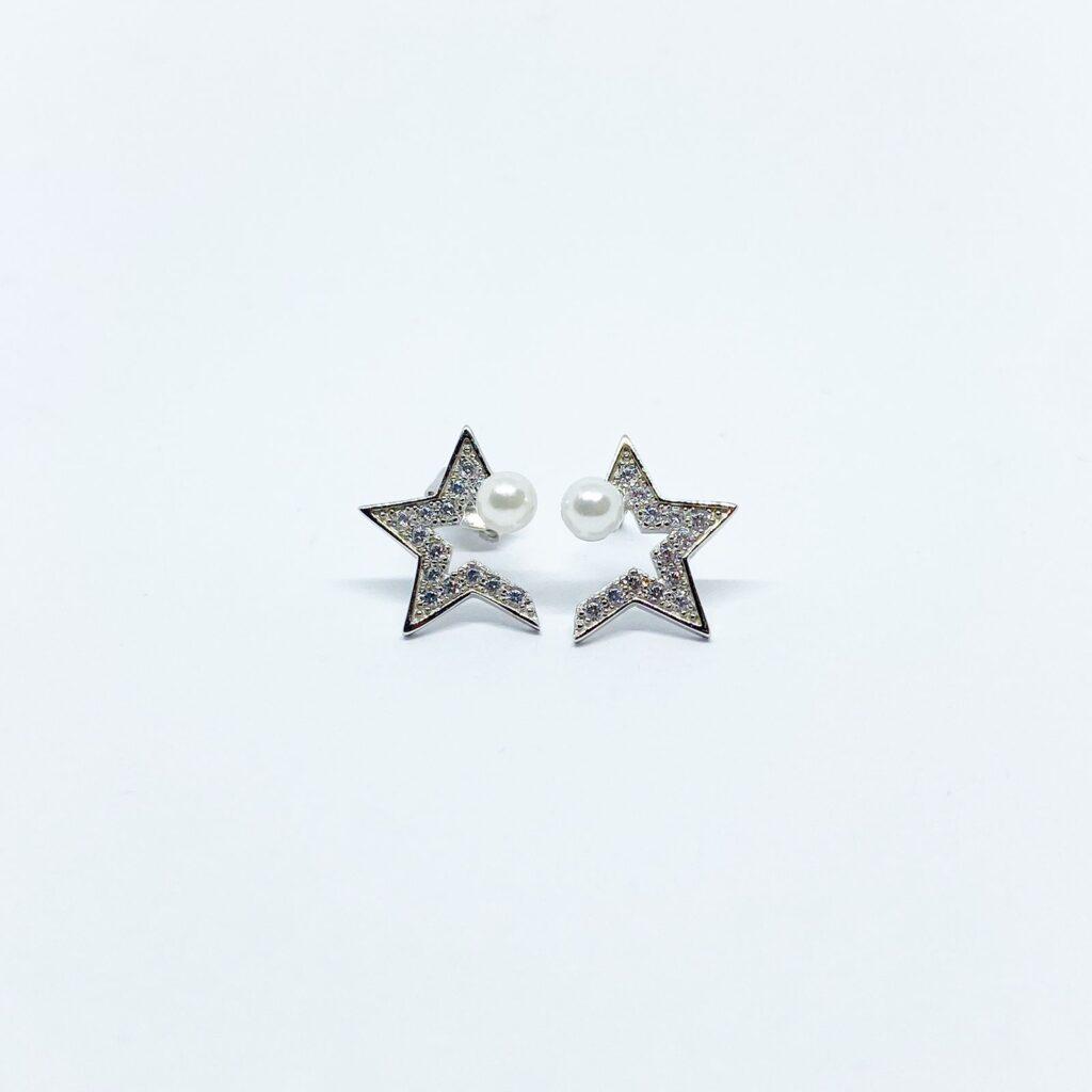 Aretes de Estrella con Perla