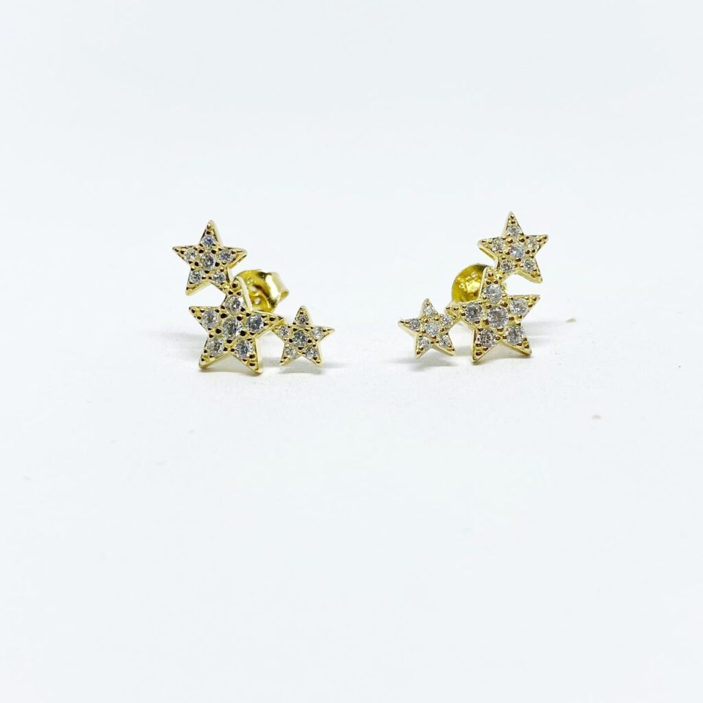 Aretes Tres Estrellas