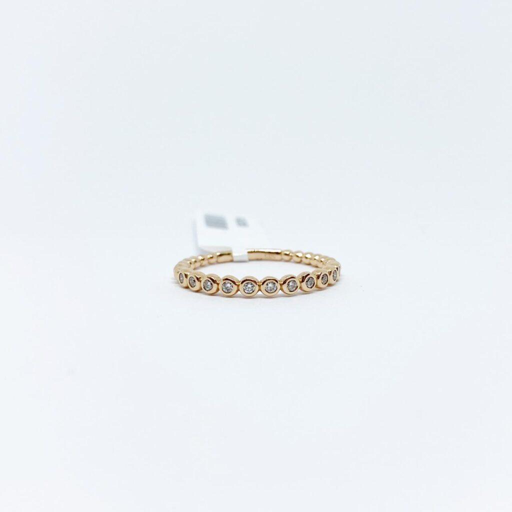 Anillo Circulos de Diamante