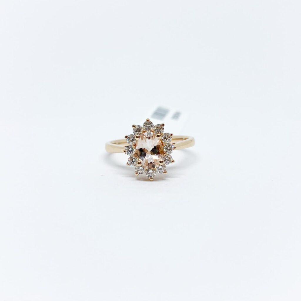 Anillo Morganita con Diamantes