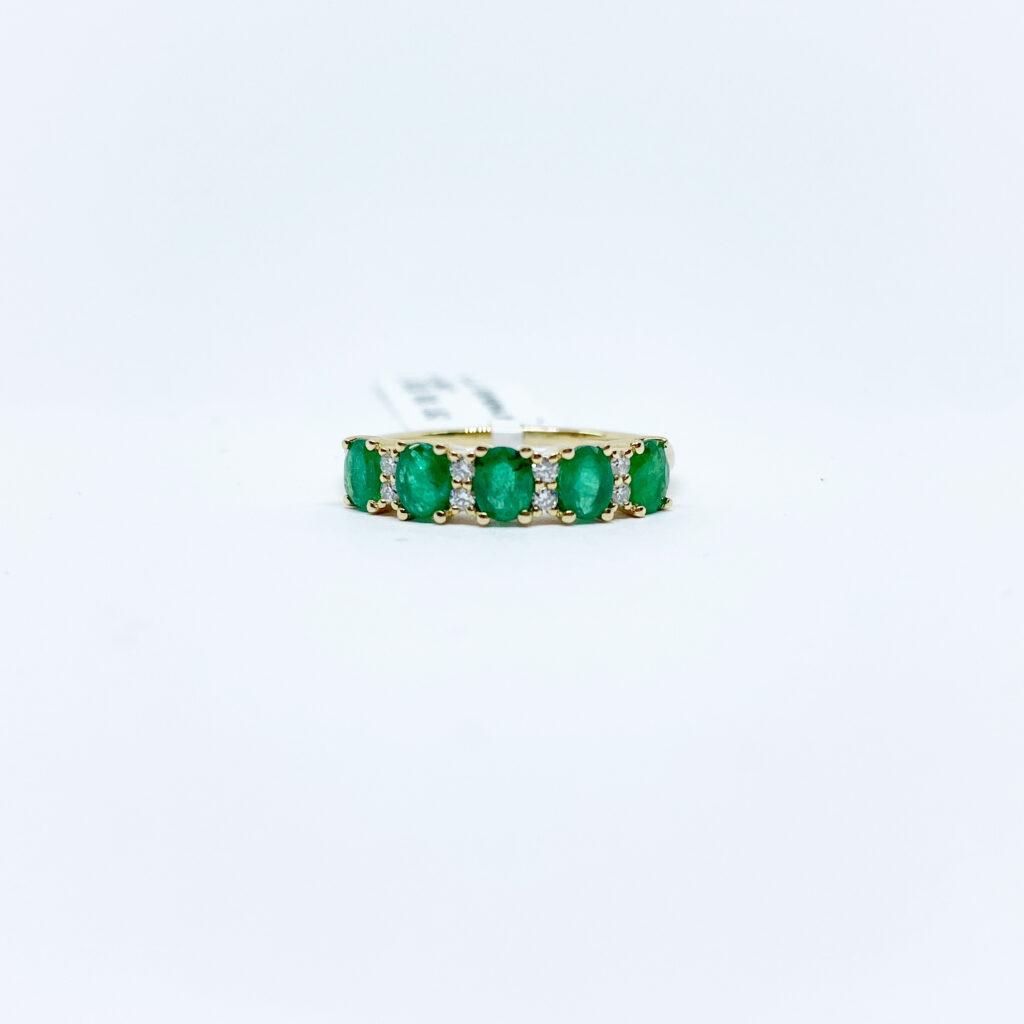 Anillo Esmeraldas con Diamantes