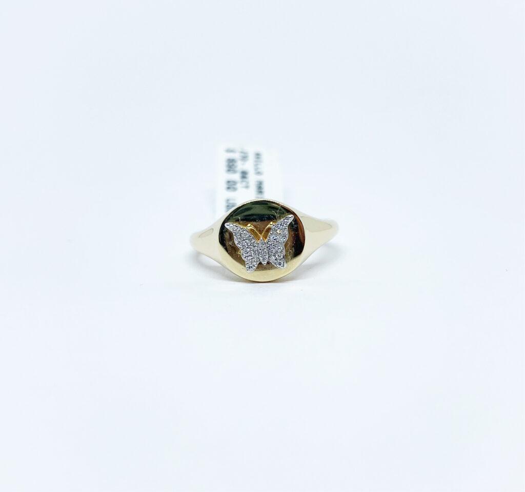 Anillo Mariposa con Diamantes